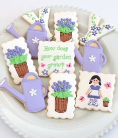 https://flic.kr/p/nBNZPx | Gardening cookies by Miss Biscuit