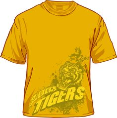 fierce Tiger Artwork, Mens Tops, T Shirt, Fashion, Moda, Tee Shirt, Fashion Styles, Fashion Illustrations, Tee