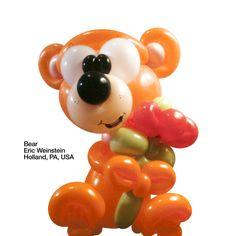 Orange entries Balloon Bear Eric Weinstein Holland, PA, USA