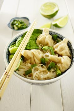 Thai Shrimp Dumping Noodles by easytocookmeals #Noodles #Dumplings #Shrimp #Thai