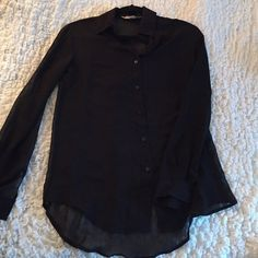Sheer Black Blouse Sheer Black Blouse. Great Condition!! Tops Blouses
