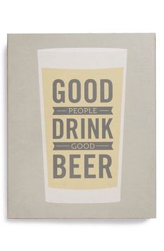 LUCIUS DESIGNS 'Good People Drink Good Beer' Wood Block Art available at #Nordstrom