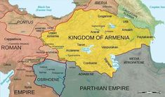 Map of Armenia and the Roman client states in eastern Asia Minor, ca. 50 AD, before the Roman-Parthian War and the annexation of the client kingdoms into the Empire Armenian History, Armenian Culture, European History, Ancient History, Armenian Food, Parthian Empire, Naher Osten, By Any Means Necessary, 1st Century