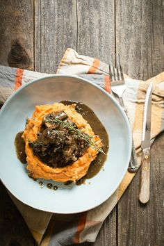 Cider Braised Short Ribs with Sweet Potato Mash