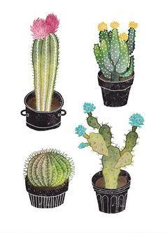 Sanny van Loon 'A4 Poster Cactussen'