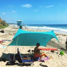 Amazon.com: Beach Tent with Sand Anchor, Portable Canopy for Shade (Teal): Sports & Outdoors