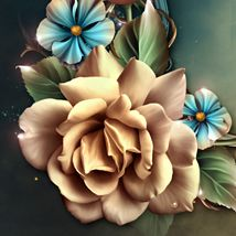 Moonbeam's Champagne Roses is an original digitally painted Champagne colored rose design resource.