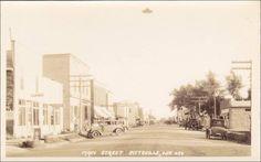 RP; Main Street , PITTSVILLE , Wisconsin , 1910s Pool hall & Post Office