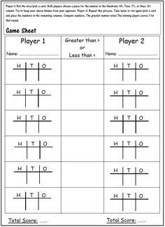 Place Value Game Place Value Games, Place Value Activities, Place Value Worksheets, Place Value Of Numbers, Game Place, Second Grade Math, Third Grade, Grade 2, Maths 3e