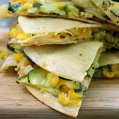 Zucchini and Corn Quesadillas: Plan to accompany with Spicy black Bean Soup
