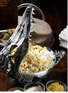 Bring style and spirit to Halloween gatherings with this spooky serving accessory.