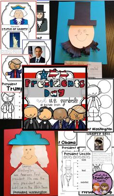 President's Day and U.S. Activities for kindergarten,1st grade, and 2nd grade