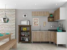 Cozinha Completa Líder Casa Aroma - com 8 Portas 3 Gavetas