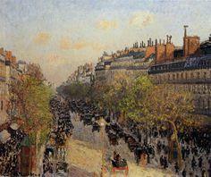 Boulevard Montmartre, Sunset, 1897 - Camille Pissarro