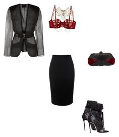 """""""Shauney 3"""" by shifamous on Polyvore featuring Alexander McQueen, La Perla, Dsquared2, Erickson Beamon and Christian Louboutin"""