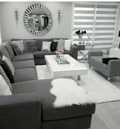 There are many elegant living room ideas that you might decide to get applied in your living room design. Because you have landed here then most probably you want Elegant living room answer. Living Room Decor Cozy, Elegant Living Room, Living Room Grey, Home Living Room, Interior Design Living Room, Living Room Designs, Modern Living, Black White And Grey Living Room, Cozy Living