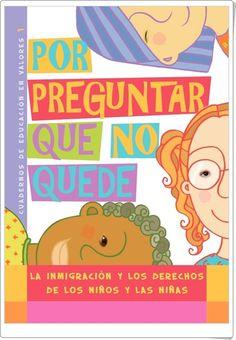 """""""La inmigración y los derechos de los niños y las niñas"""" Spanish Teaching Resources, I School, Family Guy, Education, Kale, Farmer, Lion, Skincare, Students"""