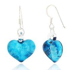 925 Sterling Silver Hand Blown Venetian Murano Glass Sky Blue Heart Shaped Dangle Hook Earrings Chuvora http://www.amazon.com/dp/B004DCWJEG/ref=cm_sw_r_pi_dp_twmjvb0AFJXHF