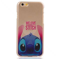 Capa Rígida Dourada Love Stitch para iPhone 6
