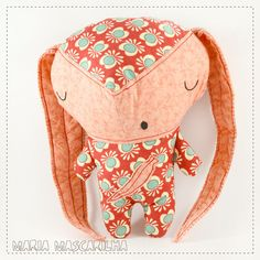 Sleepy  Bot�o | stuffed toy for children, pink and blue baby softie, handmade fabric plush doll