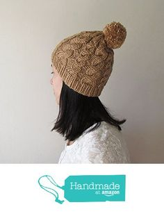 Hand Knitted Cable Chunky Beanie in Camel - Beanie with Pom Pom - Seamless - Wool Blend - Winter Fall - Made to Order from NaryaBoutique https://www.amazon.com/dp/B01M6XBAGO/ref=hnd_sw_r_pi_dp_4Trdyb19TZQNG #handmadeatamazon