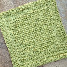 Tunisian Crochet Leaf Dishcloth