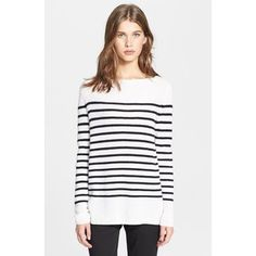 Women's Vince Ribbed Stripe Cashmere Sweater