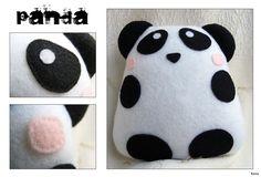 Panda Felt Plush by Kuvu on deviantART
