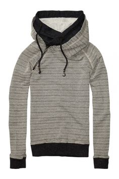 Maison Scotch-Home alone sweat with double layer hood