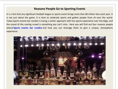Are you looking for why people go for sporting event in sports events bar London? Browns Shoreditch is the best sports events bar which provides you all the activity related to it. Why People, Time To Celebrate, Pole Dancing, Pdf, Events, London, Sports, Hs Sports, Excercise