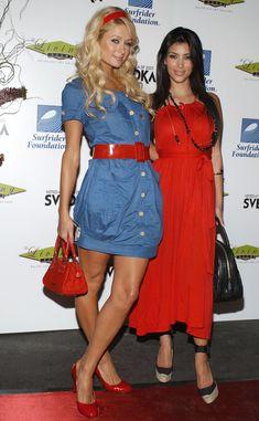 Kim Kardashian and Paris Hilton - The Living Room & Surfrider party