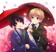 Hetalia.~*: Kiku & Arthur.