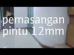 Pemasangan kaca pintu 12mm