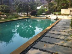 above the terrace swimming pool