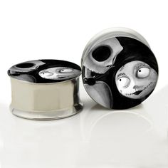 316L Surgical Steel Nightmare Before Christmas Unthreaded Ear Gauge Plug And Tunnel Ear Stretcher Expander 6mm-20mm Ear Plug