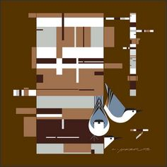 I'm betting this would make a great quilting/applique combo.  Birch Bark and Birds wall mural by Charley Harper