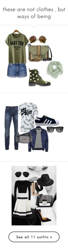 """""""these are not clothes , but ways of being"""" by alessandra-loma on Polyvore featuring moda, Topshop, Anouki, L'Autre Chose, Alexander McQueen, Scotch & Soda, NIKE, adidas, Gucci e Ray-Ban"""