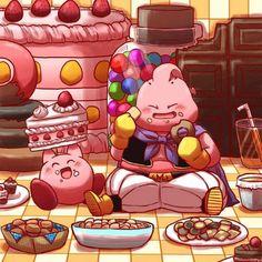 Kirby and Boo - Kirby and Dragon Ball series