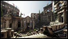 Ryse - Son of Rome - Ingame Screenshot Finn Meinert Matthiesen Ryse Son Of Rome, Rome City, Fantasy Places, Fantasy Art, Artwork Online, Environment Design, Game Environment, Fantasy Setting, Ancient Rome