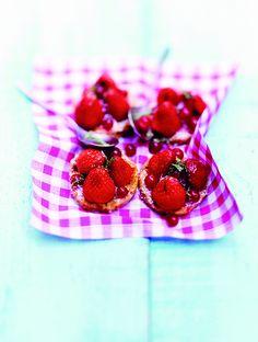 Galletas de masa cruda de fresas