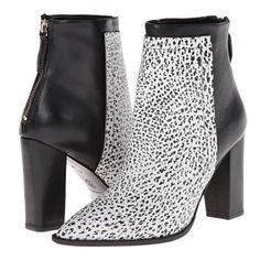 Loeffler Randall Mercer Boot. Animal print. Size 8 Pointed toe ankle boot. Embossed leather upper with printed instep. Pull on design with back zip closure. Leather lined. Lightly padded leather insole. Wrapped heel. Smooth leather  Measurements Heel Height: 3 3⁄4 in Weight: 13 oz Circumference: 9 in Shaft: 7 1⁄2 in Great condition. Small scratch on right heel. Comes with dust bag and box. Loeffler Randall Shoes Ankle Boots & Booties