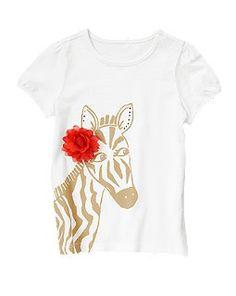 Rosette Zebra Top