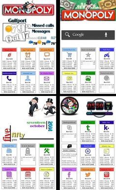 Original Monopoly game property cards as icons. Very original & unique homepack. Whatcha think? #homepackbuzz #buzzlauncher