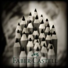 From Faber-Castell, we have a slightly different type of pencil. It uses oil rather than wax as the binding agent.The advantage is that this pencil type creates lightfast marks that don't require a fixative.