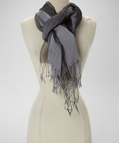 Take a look at this Gray Chiffon Silk-Blend Scarf by TROO on #zulily today!