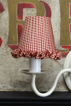 A collection of hand wrapped ribbon lampshades trimmed with a variety of vintage and beaded trimmings and elegant fine feathers Country Lamps, Country Decor, Diy Lampe, Shabby Chic Lamps, Painting The Roses Red, White Cottage, Red Gingham, Red Kitchen, French Country Style
