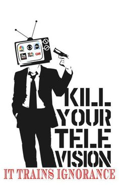 I haven't watched TV since the finale of DEXTER. This poster is from ANONYMOUS.. If you don't know what's going on.. find out.  http://youranonnews.tumblr.com/
