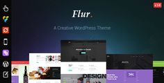 Flur - Creative WordPress Theme . Flur is a creative WordPress theme made with trending designs, overlay and gradient colors to give a modern