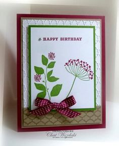 Stampin UP Birthday Card Summer Silhouttes