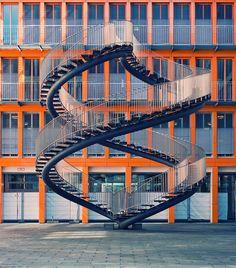 Endless Stairway, KMPG building, Berlin, Germany by Philipp Klinger Photography